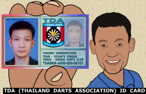 TDA ID Cards for all Darts Players in Thailand - Get yours now