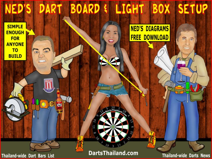 dbsu_001_johnny_witkowski_sexy_darts_cartoon_dart_set_up_board_lighting_oche_diagram